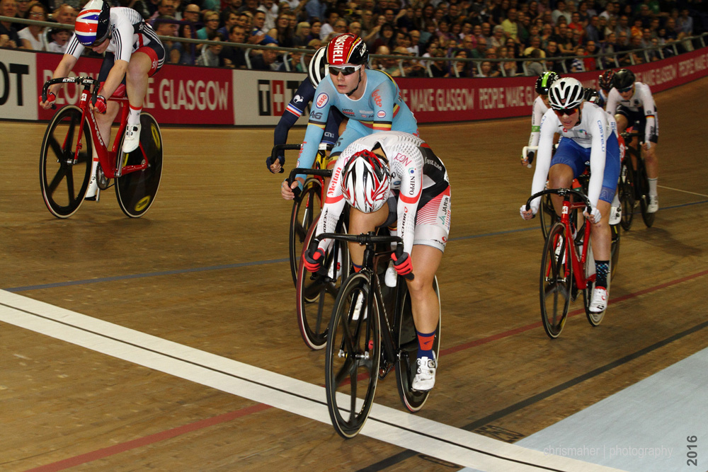 UCI Track World Cup 2016/7 | Glasgow - Round One, Day Three - Women's Omnium Rnd1 Scratch Race