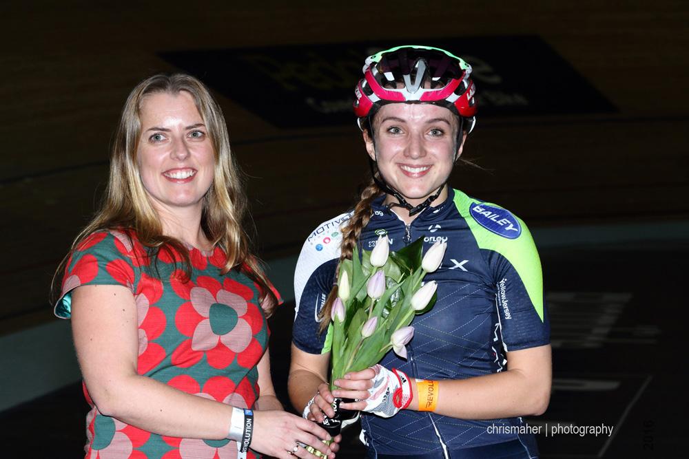 A win for Elinor Barker in the Women's Elimination Race