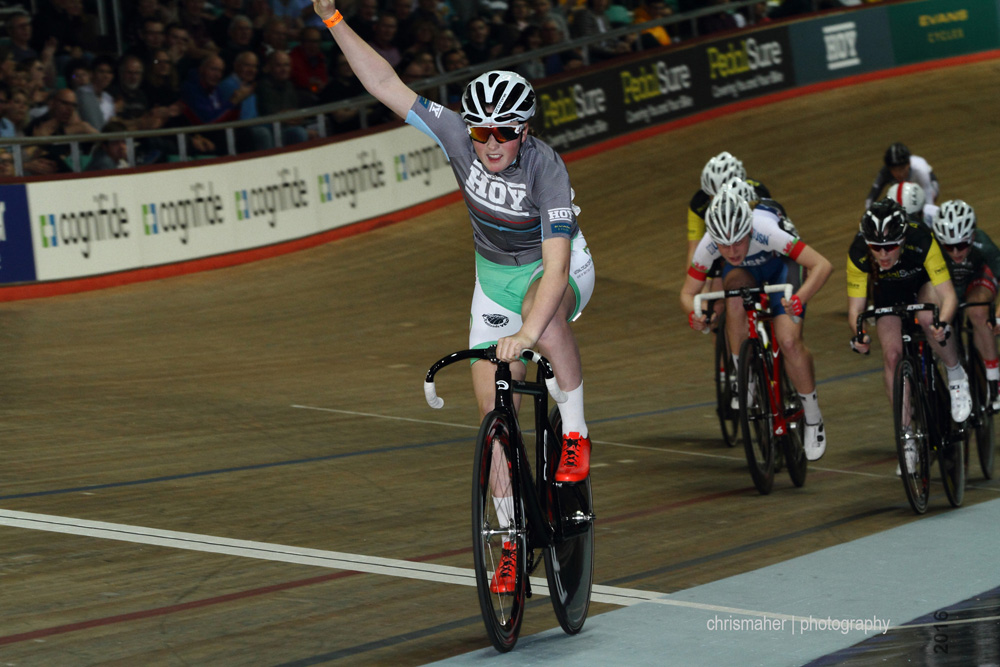 Revolution 61 Champions League 2016, Manchester. HOY Bikes Future Star, Ellie Russell