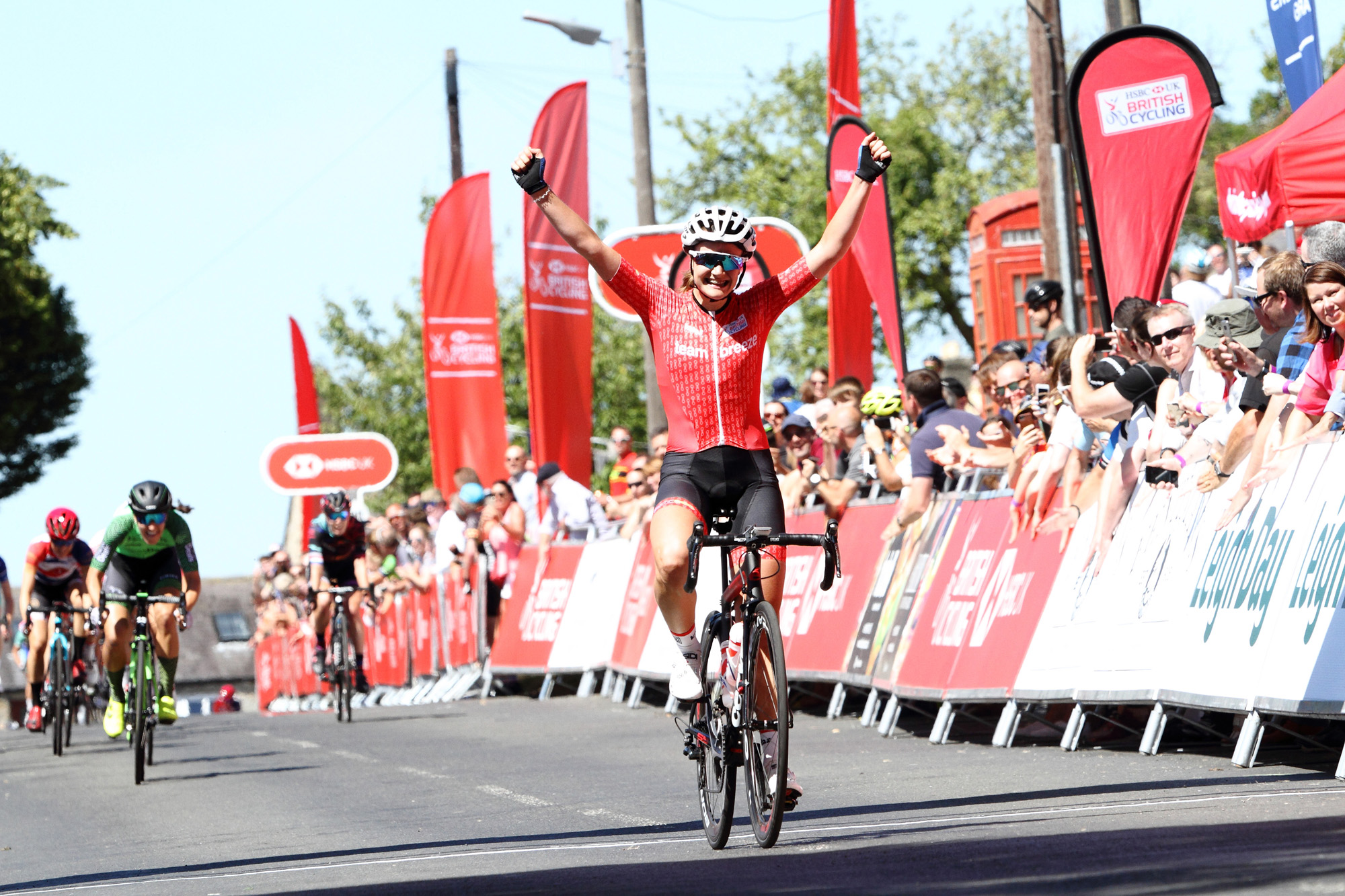 99f03efe4 HSBC-UK BC National Road Race Champs 2018 – Winner – Jessica Roberts  Team  Breeze  ...