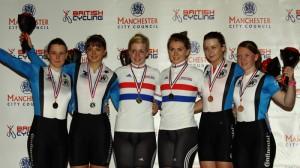 Women's Team Sprint Podium