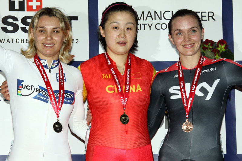 Women's Keirin Podium - UCI Track World Cup Classic