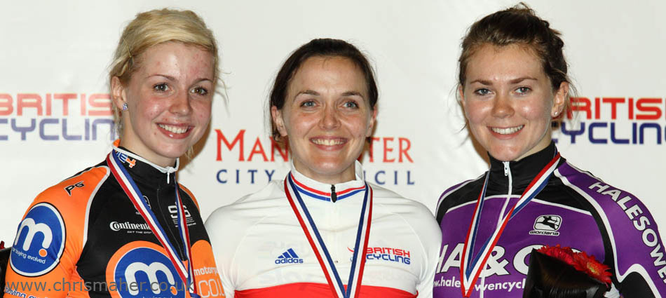 British National Track Championships 2010 - Victoria Pendleton, Beck James & Jessica Varnish.