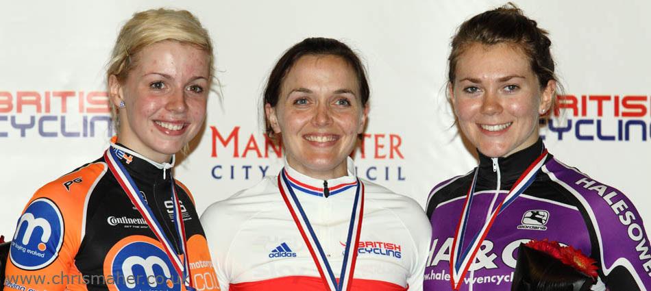 British National Track Championships 2010 - Victoria Pendleton, Beck James & Jessica Varnish.